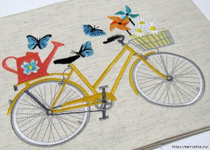 Вышиваем велосипед. Идеи со схемами (32) (697x497, 363Kb)