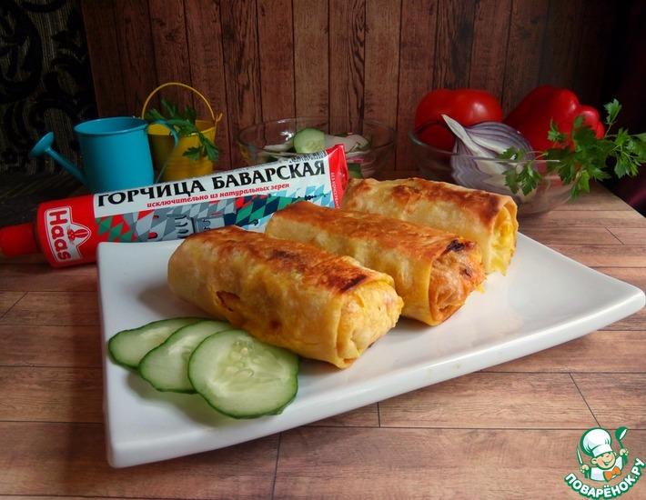 Рецепт: Горбуша, запеченная в лаваше