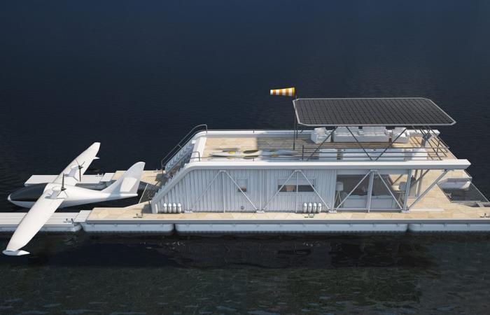 Роскошный плавающий дом-яхта…