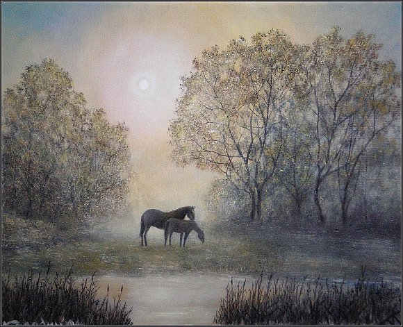 Потрясающие пейзажи художника из Павлодара Колодина Александра Ивановича