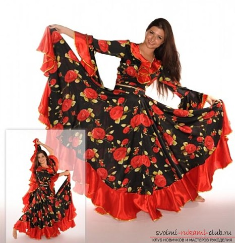 Цыганская юбка своими руками