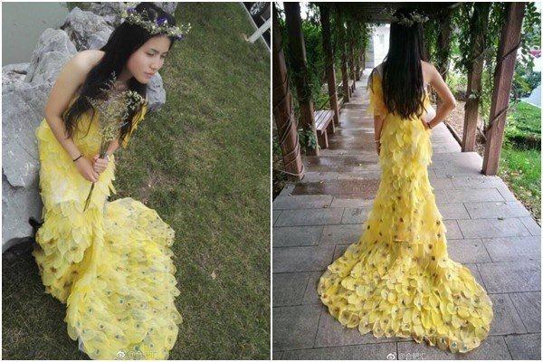 Платье из 6000 листьев (Diy)