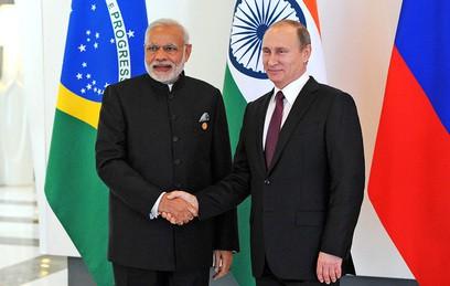 Путин обсудил с премьером Индии развитие двустороннего партнерства