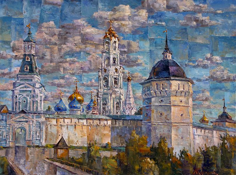 художник  Колоколов Антон,  Троице-Сергиева Лавра, северная монастырская стена