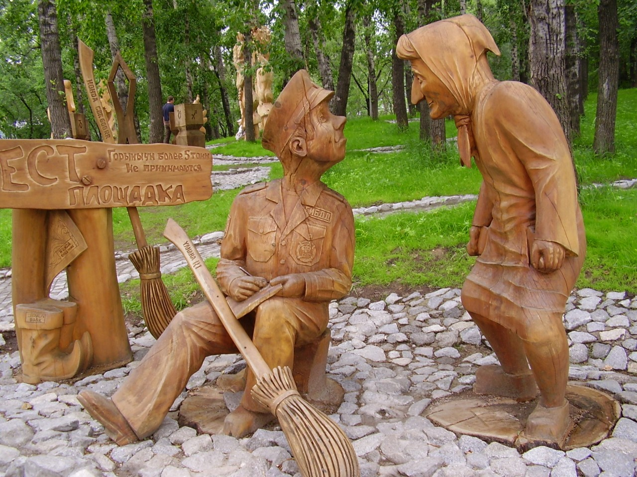 Фигуры из дерева своими руками для интерьера сада: сказочные