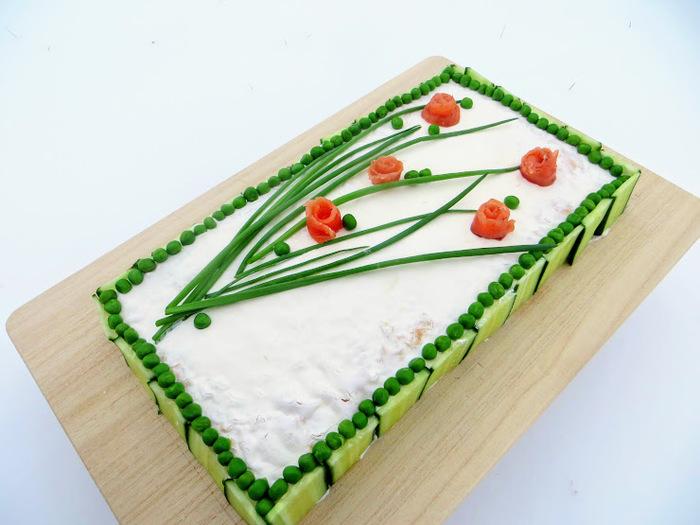 Закусочный торт на праздничный стол Еда, Праздничный стол, Новогодний стол, Закусочный торт, Другая кухня, Длиннопост, Видео рецепт, Закуска, Видео
