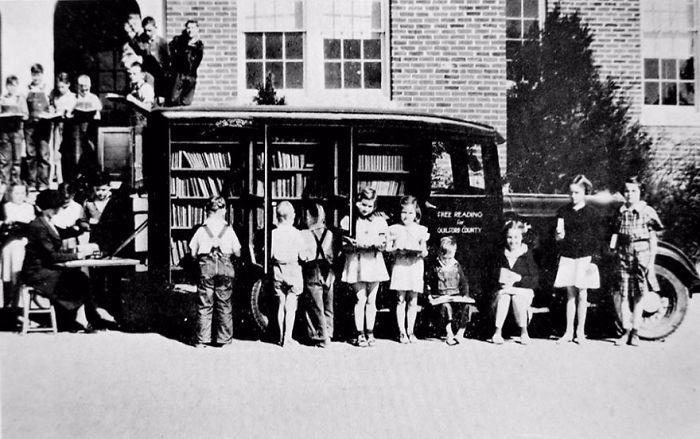 Северная Каролина, 1936 библиотека, библиотека на колесах, ретро фото