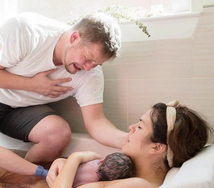После родов. Мы вместе! Любовь, дети, младенцы, нежность, отцы, отцы и дети, родители, фото