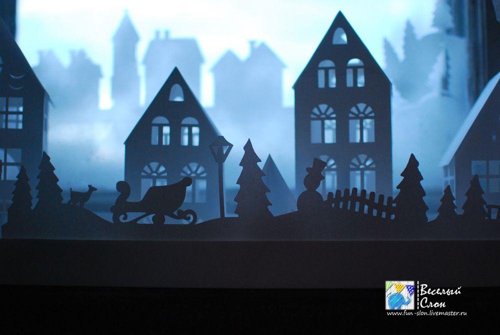 Создаем волшебный новогодний  город из бумаги