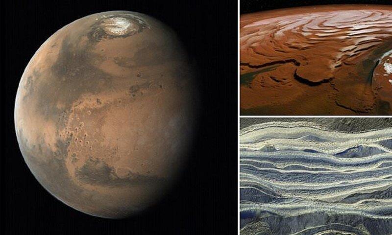 Ученые нашли огромные водные резервуары на Марсе ЖИЗНЬ НА МАРСЕ, астрономы, вода, марс, наука, открытие, познавательно, ученые