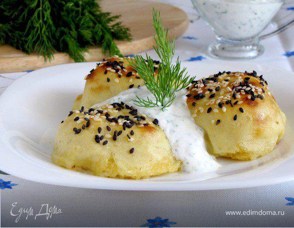 Картофельные зразы с капустой из духовки