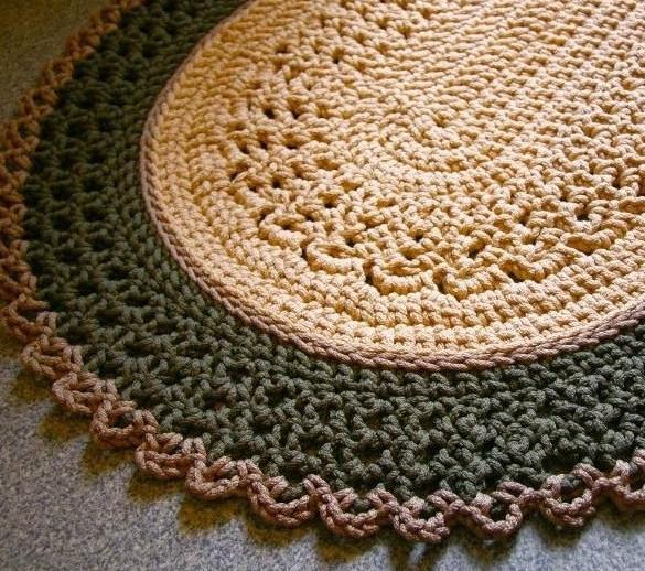 Схемы ковриков из шнуров
