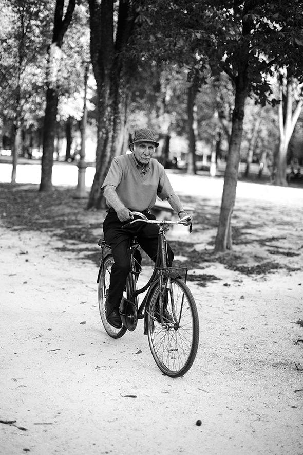 The Bicyclist….Parco Ducale, Parma
