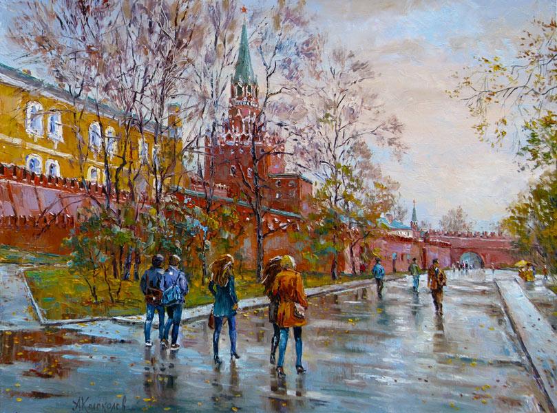художник  Колоколов Антон,  Осенний Кремль