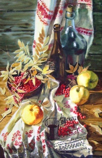 Яркий и сочный акварельный натюрморт художника Игоря Манухова