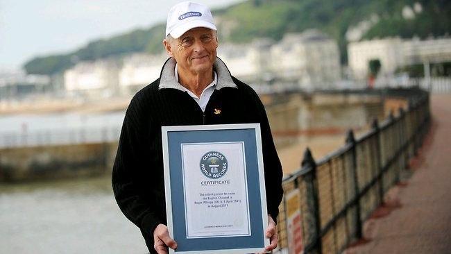 Самый пожилой человек, переплывший Ла-Манш