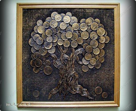 Картина из монет своим руками