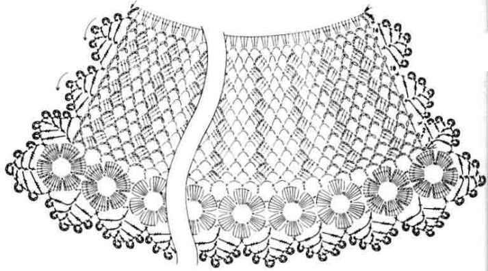 Схема к воротничку для платья