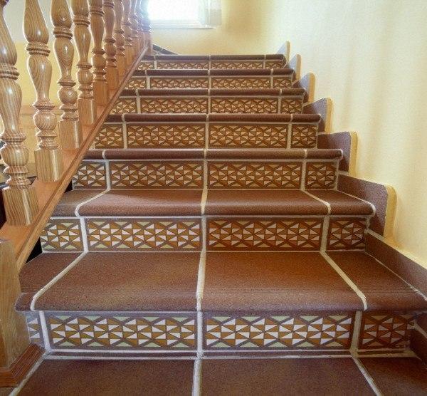Облицовка ступеней лестницы:…