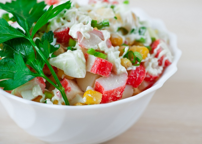 Салат крабовый «Самый обычный»