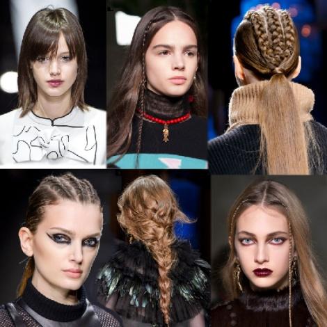 Модные тенденции в женских прическах Осень/Зима 2017-2018. Фото последних работ от стилистов модных домов