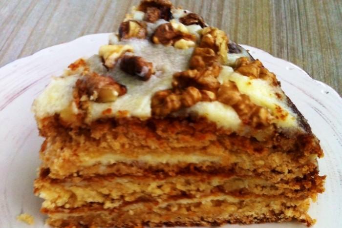 рецепт простого и вкусного торта медовик