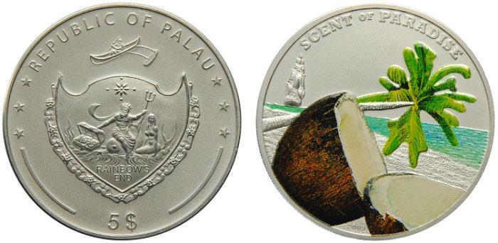 Монета с запахом кокоса./Фото: newcoin.ru