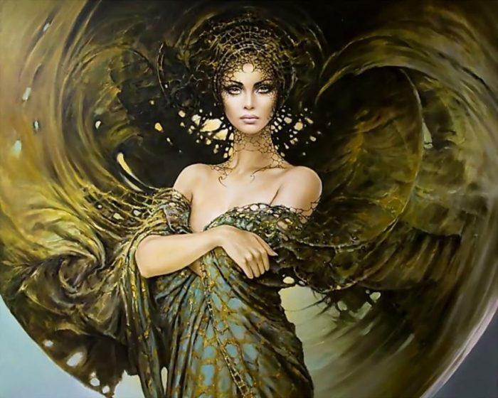 Художник Karol Bak о таинственной красоте женщины