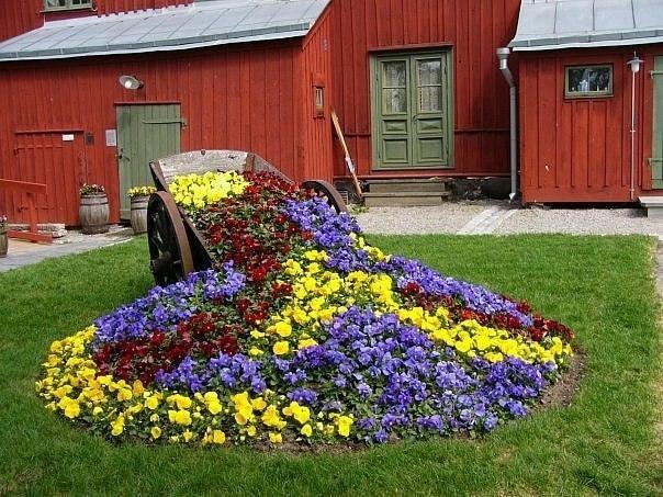 Словно цветы рассыпались из телеги