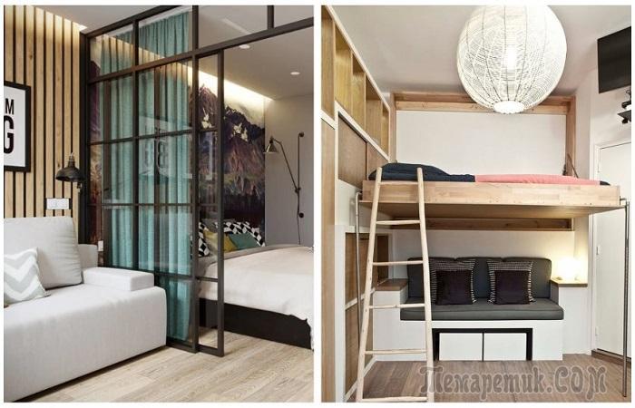7 решений, куда поставить кровать, если места в маленькой квартире почти нет