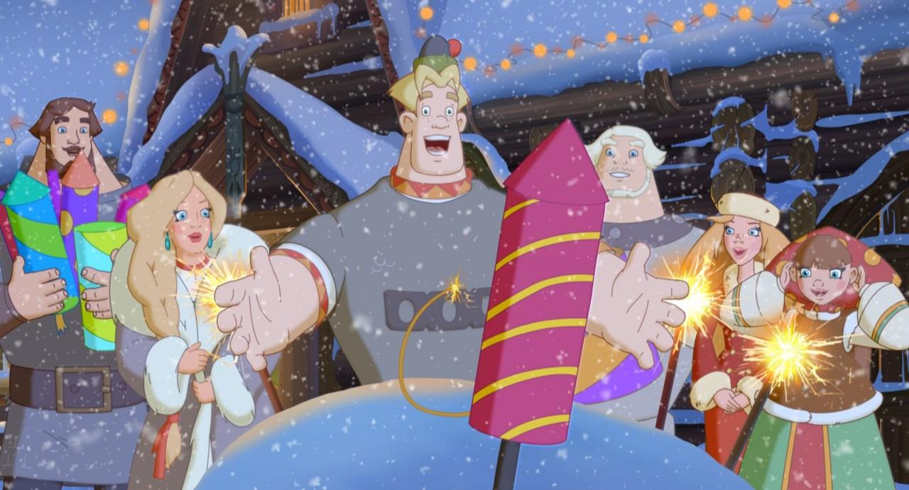 Как три богатыря встречают новый год