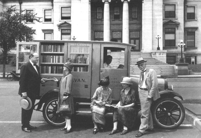 Айова, 1927 библиотека, библиотека на колесах, ретро фото