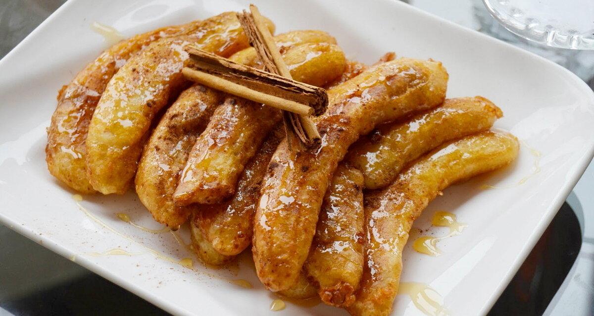 Сладкая неделя: Жареные бананы