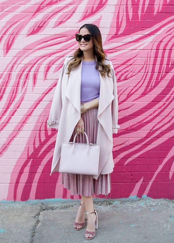 Модные идеи с чем носить юбку-плиссе в 2018 году