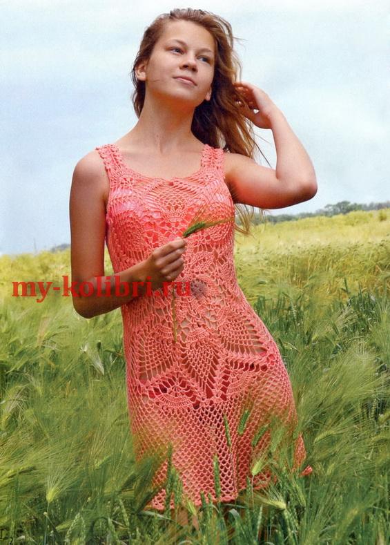 Пляжные платья вязаные крючком