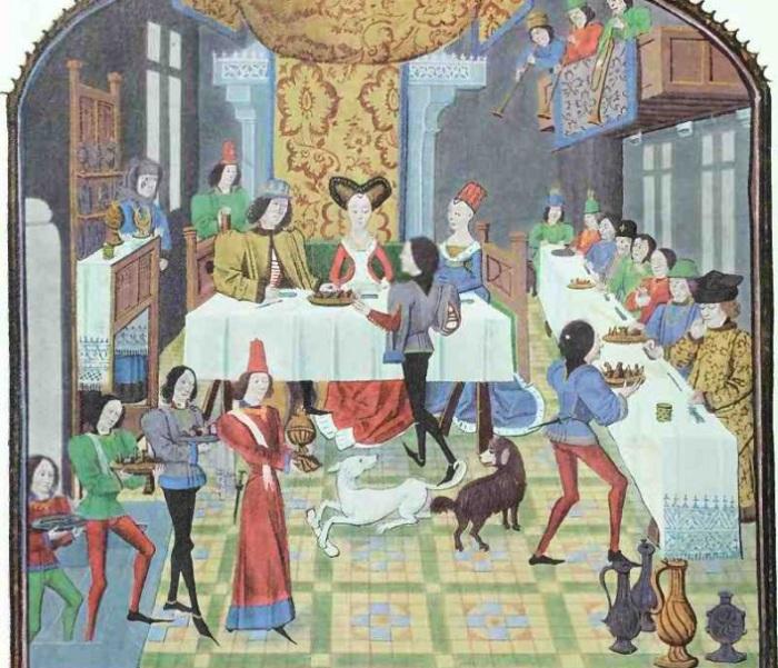 Застолье у аристократов. | Фото: worldhistory.biz.