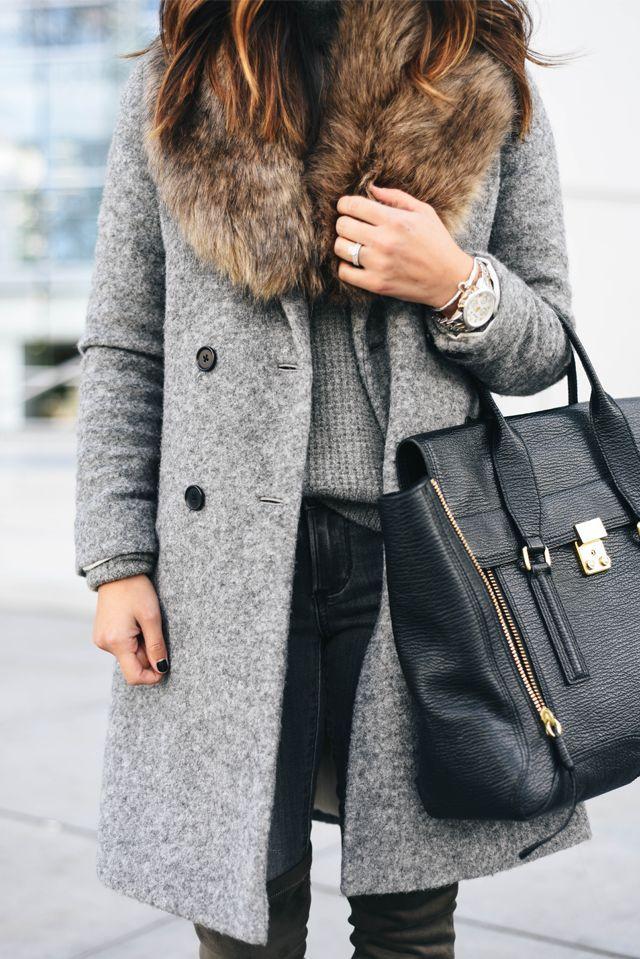 Меховые пальто для женщин на 2017-2018 год: 24 стильных варианта