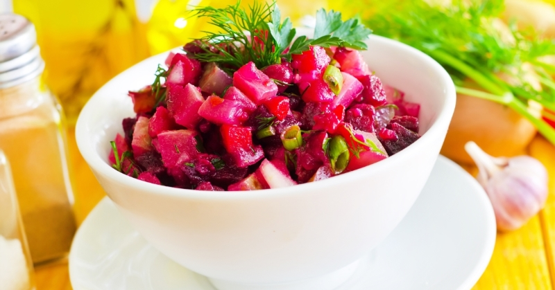 свекольный салат с чесноком