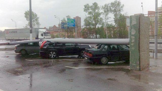 В Москве прошел ураган.