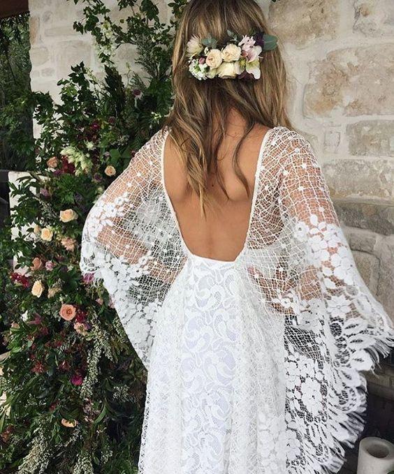 Свадебное платье  с крыльями