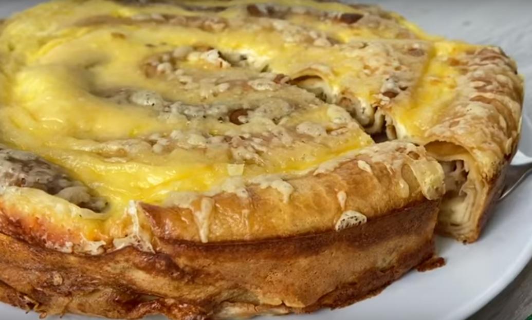 Блинный пирог улитка - сметается со стола в считанные минуты
