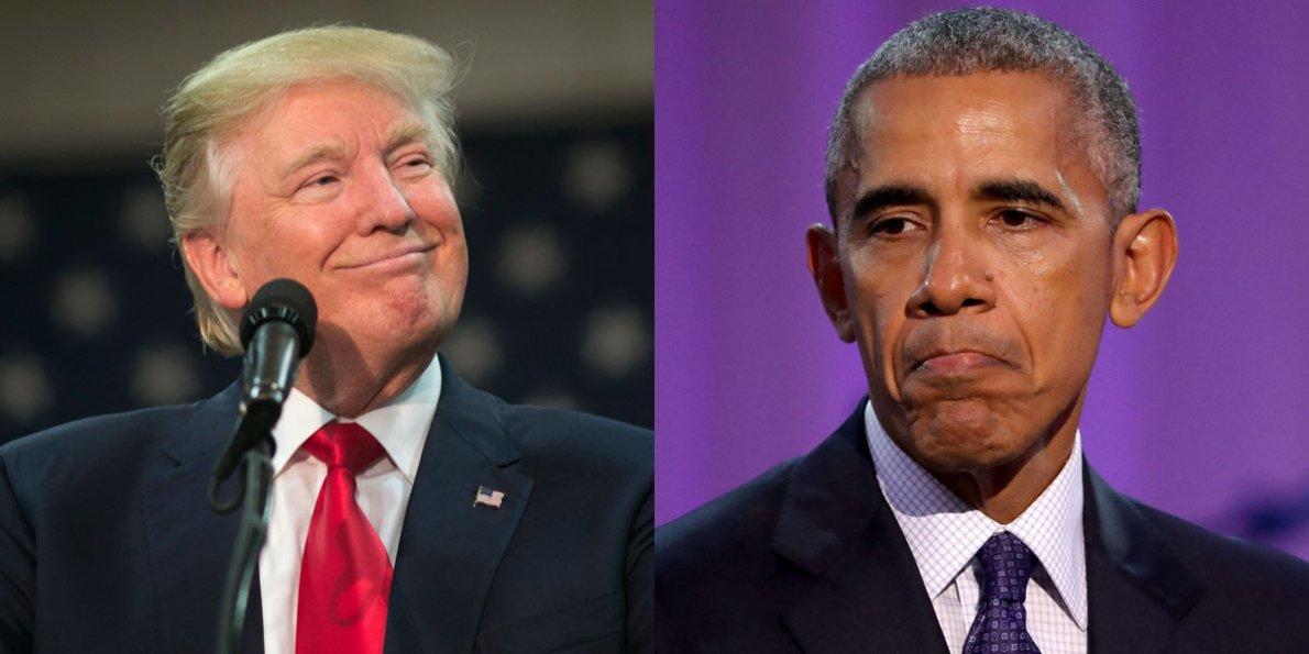 Трамп приехал в белый дом, чтобы проводить Обаму