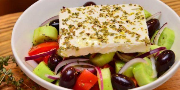 Классический греческий салат - рецепт