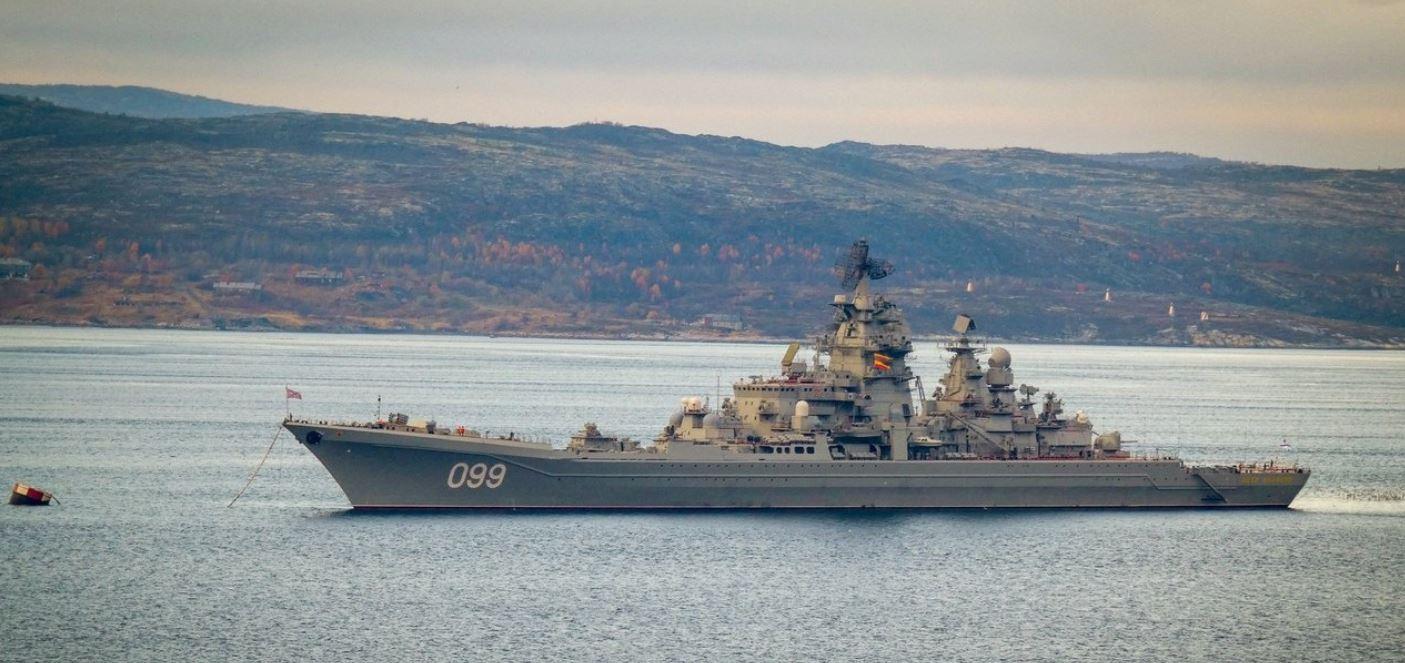 Скандал дня!  Америку поздравили с днём ВМС картинкой с изображением крейсера ВМФ РФ «Пётр Великий»