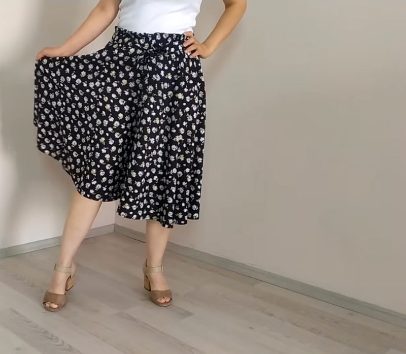 Обнови свой летний гардероб: отличная юбка-брюки за два часа