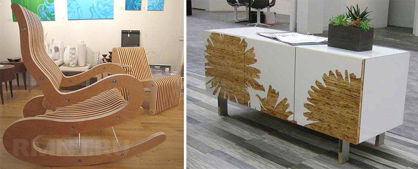 Мебель из фанеры фото своими руками