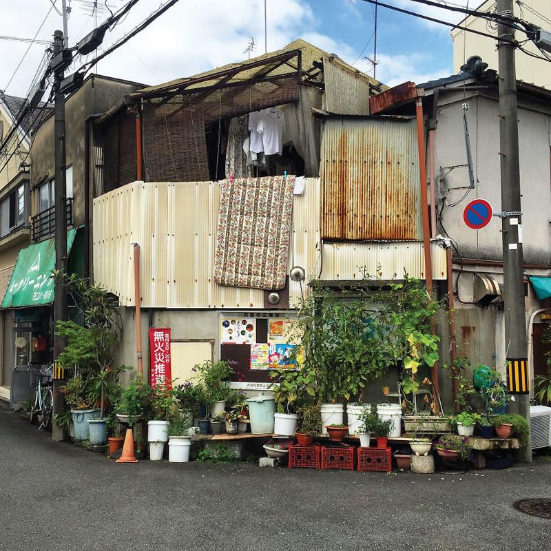 Садик на углу архитектура, дома, здания, киото, маленькие здания, местный колорит, фото, япония