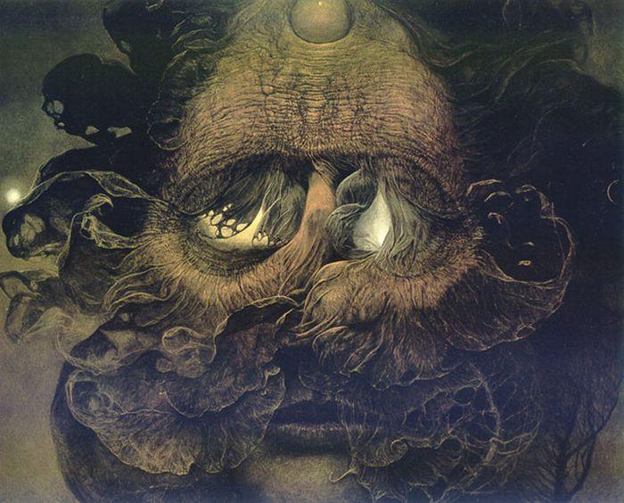 Мрачные картины Здзислава Бексиньского и его видение ада (27 рисунков)