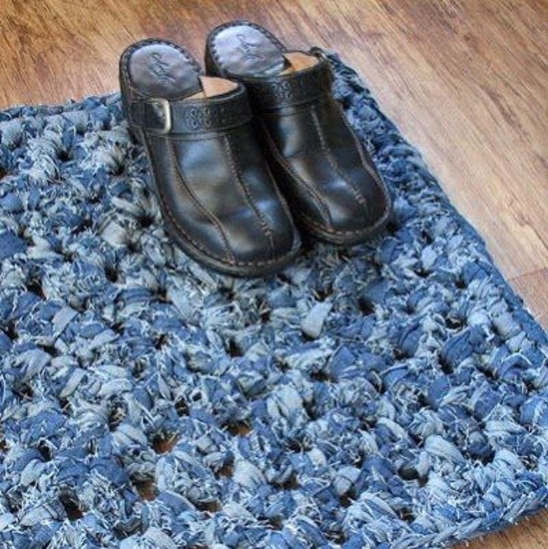 Фото коврики из джинсов своими руками