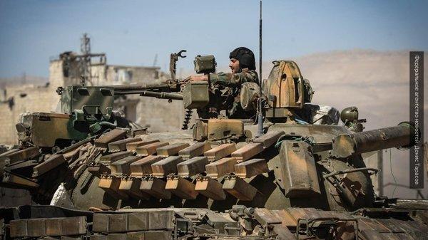 САА покажет новейшую 500-мм САУ при атаке на боевиков на юге Дамаска